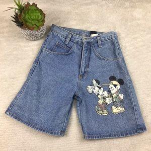🌺 VTG Mickey Jerry Leigh Hi Waist Mom Shorts